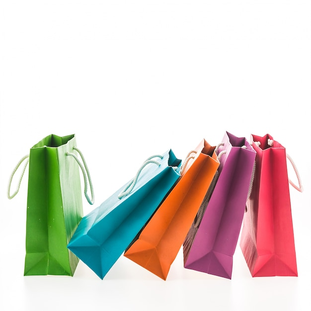 Collection of colorful shopping bags Free Photo