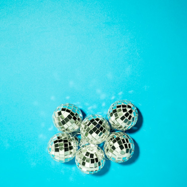 Collection of ornament silver baubles Free Photo