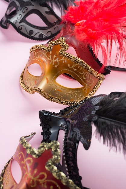 Collection of ornamented masks Free Photo