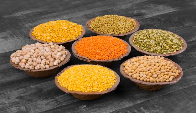 Collection of seeds food Premium Photo