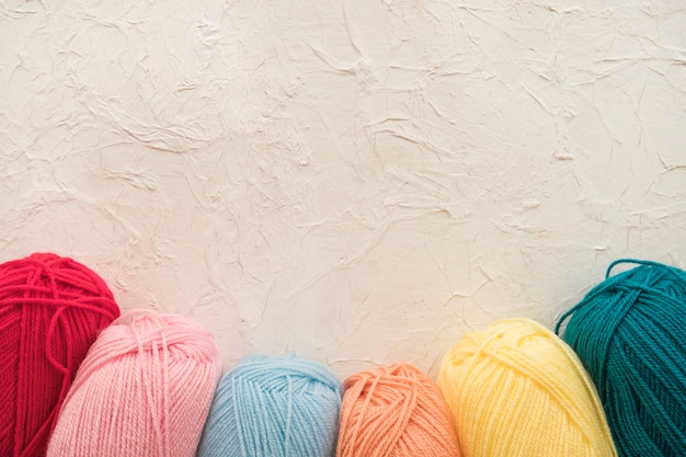 Collection of soft yarn Free Photo