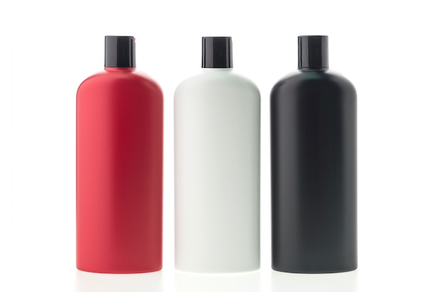 Collection of three shampoo container Free Photo