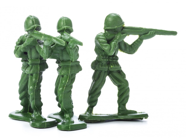 Collection of traditional toy soldiers Premium Photo