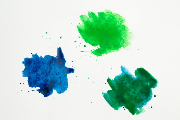Color palette of watercolor stains Free Photo