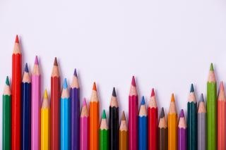 color pencils  frame Free Photo