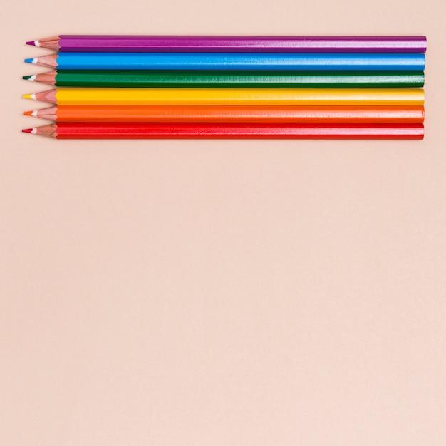 Color pencils as symbol of lgbt Free Photo