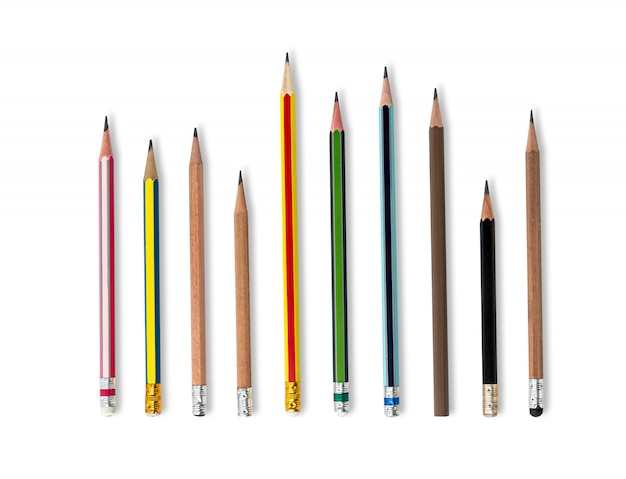 Color pencils isolated Premium Photo