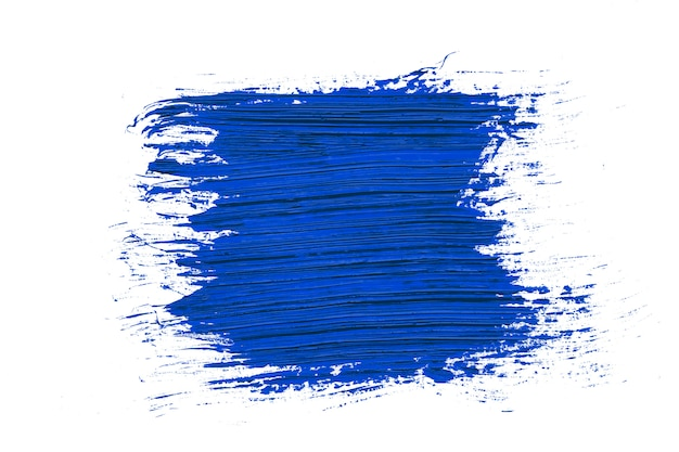 Color of the year 2020 classic blue brush stroke background Premium Photo