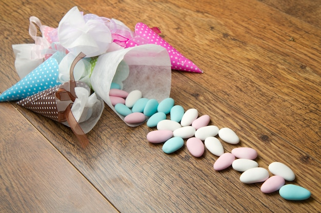 Colored candy favors Premium Photo