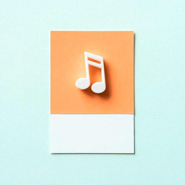 Colored musical note audio symbol Free Photo
