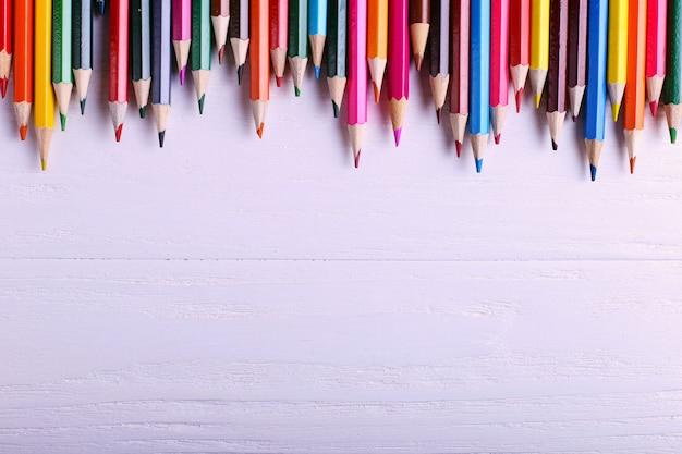 白の色鉛筆 Premium写真