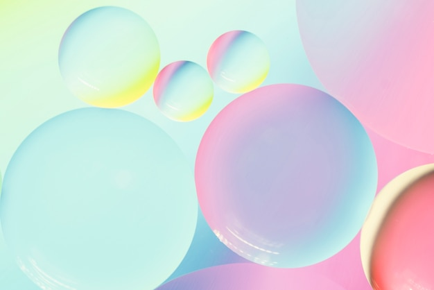 Colorful abstract background with bubbles Free Photo