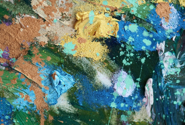 Colorful abstract oil painting Premium Photo