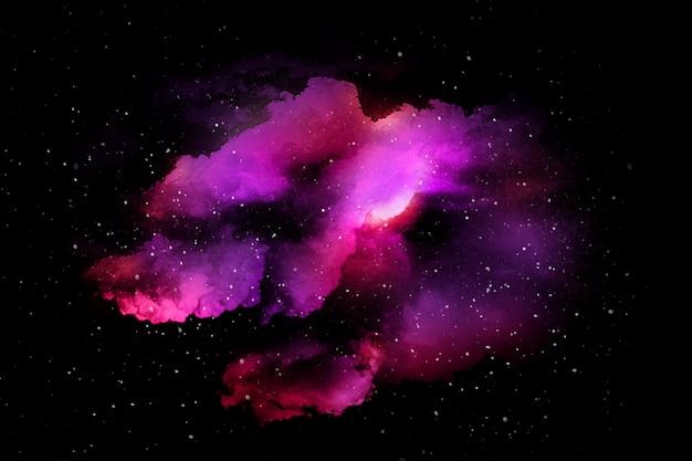 다채로운 추상적 인 우주 질감 무료 사진