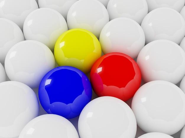 Разноцветные и белые шары Premium Фотографии