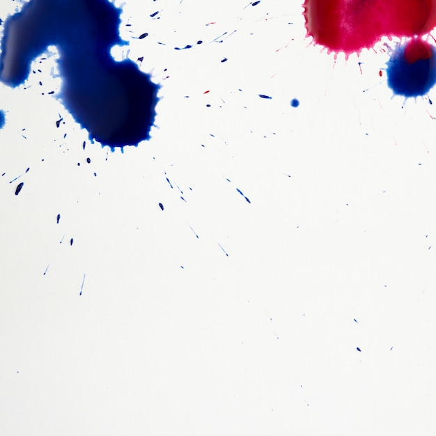 Colorful artistic stains of watercolor splashes Free Photo