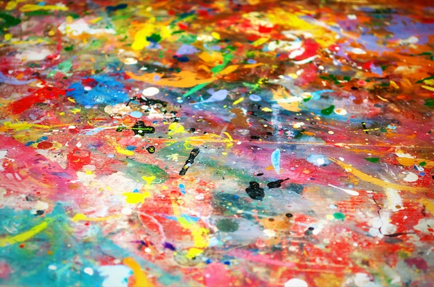 Colorful background of multicolored paint Premium Photo