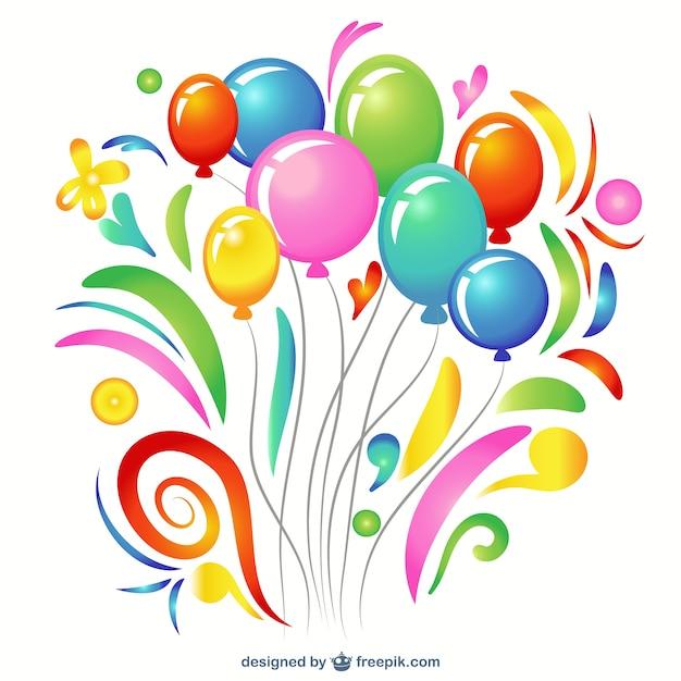 Colorful balloon clip art