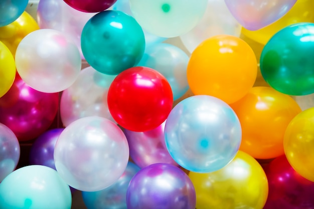 Colorful balloons festive party concept Free Photo