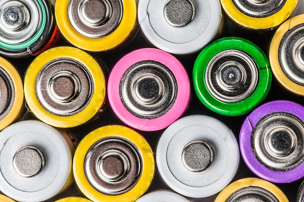 Colorful battery Free Photo