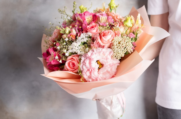 Colorful bouquet of various flowers Premium Photo