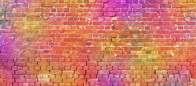 Colorful brickwork texture. Premium Photo