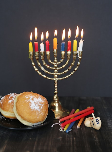 Разноцветные свечи, ханука Бесплатные Фотографии