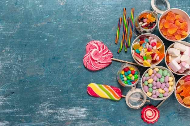 Colorful candies mixed Premium Photo