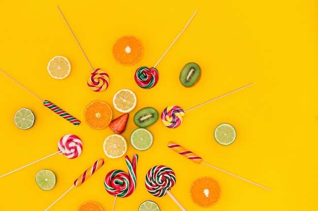 The colorful candies Free Photo
