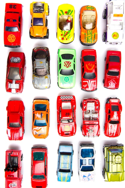 Colorful cars toys Free Photo