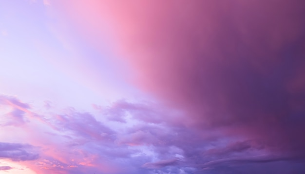 Colorful clouds on sunset sky Premium Photo