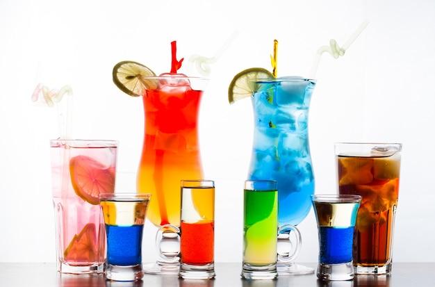 Colorful cocktails Premium Photo