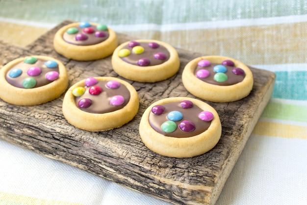 Colorful cookies glaze Premium Photo