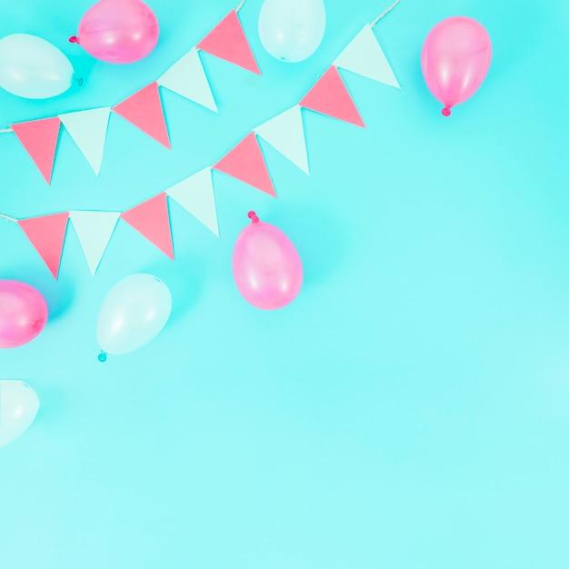 Colorful decorative birthday elements Free Photo