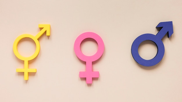 Colorful equal rights symbol concept Free Photo
