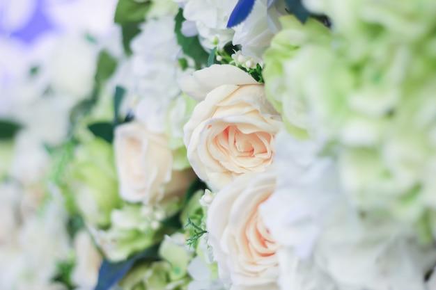 Colorful fabric flowers Premium Photo