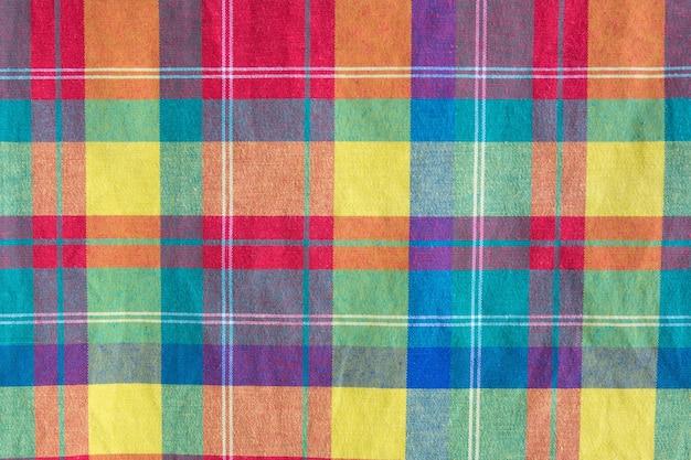 Colorful fabric plaid texture. cloth background Premium Photo