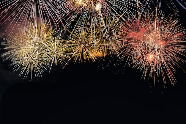 Colorful fireworks explosion in annual festival Premium Photo
