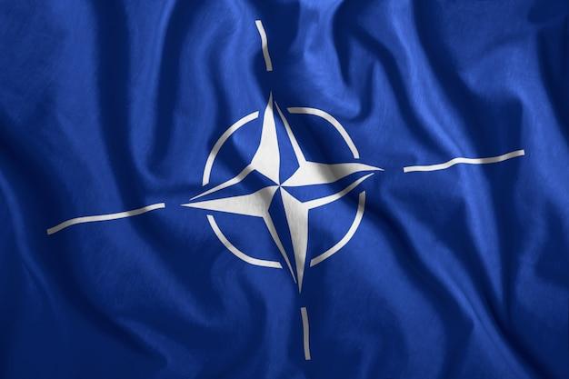 Colorful flag of nato Premium Photo
