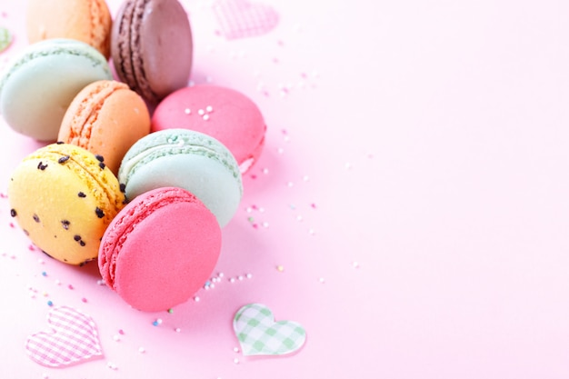 Colorful french macarons Premium Photo