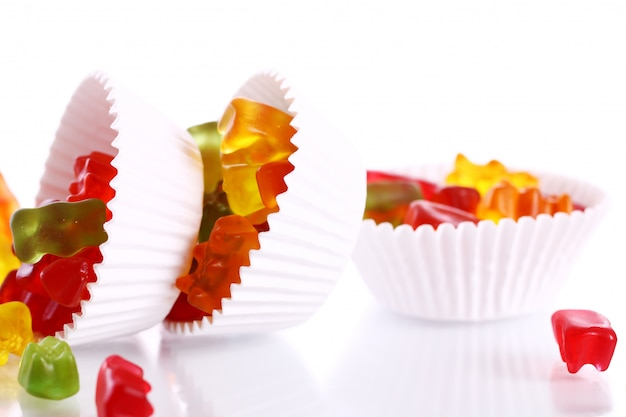 Colorful gummy bear candies Free Photo