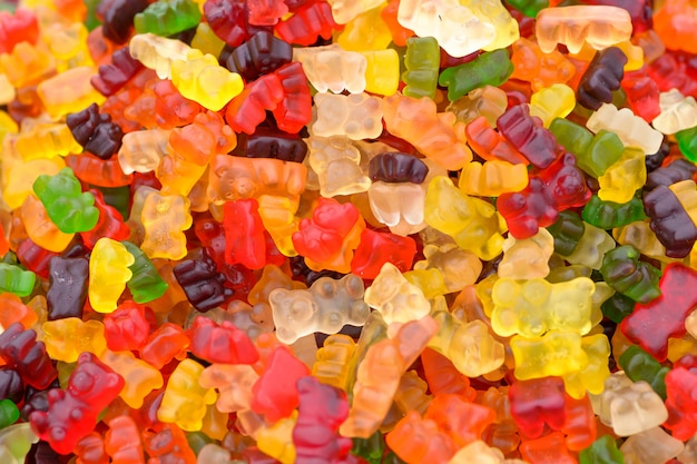 Colorful gummy bears candy Premium Photo