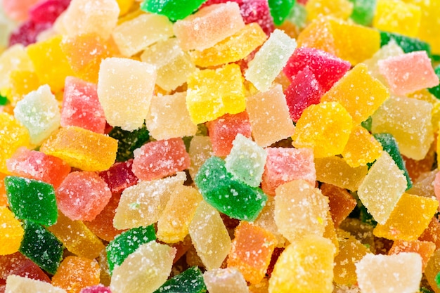 Colorful gummy candy squares Premium Photo