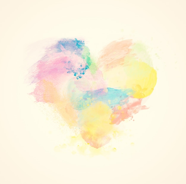 Colorful heart Free Photo