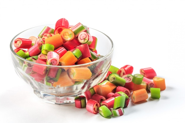 The colorful jelly candies Free Photo