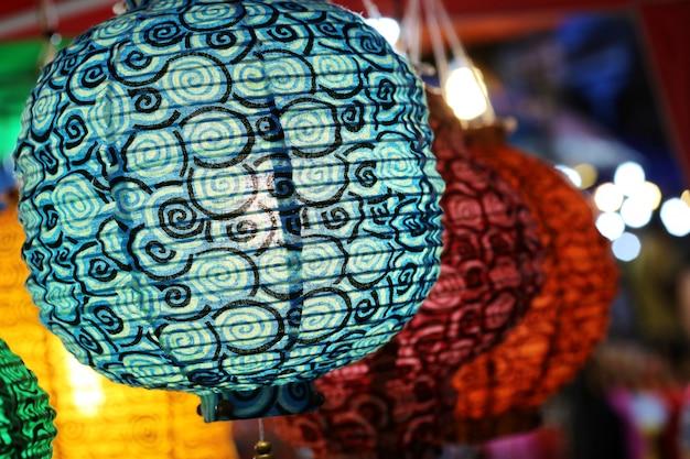 Красочный фонарь Premium Фотографии