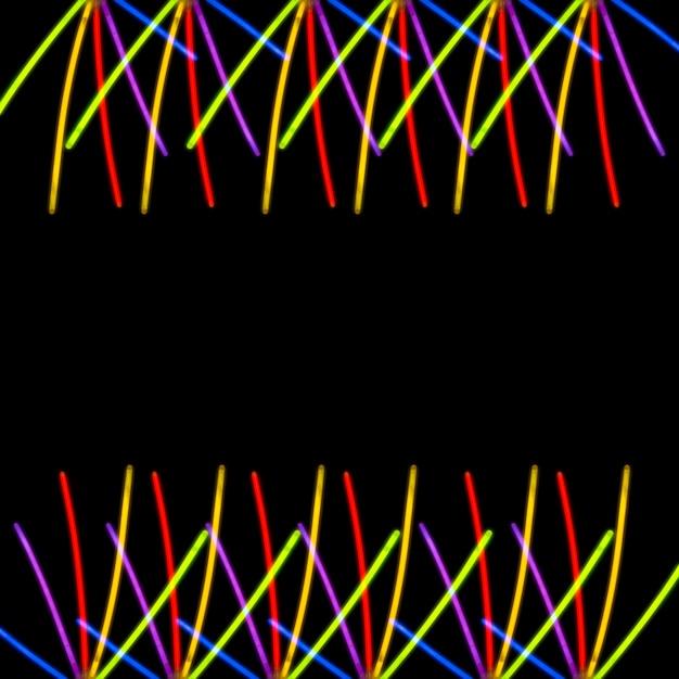 Colorful light on black background Free Photo