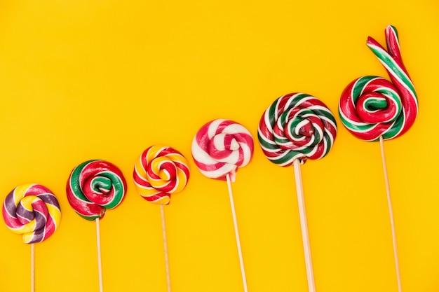 Colorful lollipops Free Photo