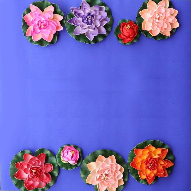 Colorful lotus flowers background photo premium download colorful lotus flowers background premium photo mightylinksfo