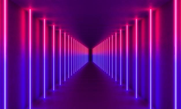 Colorful neon light background Premium Photo